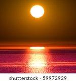 big sun setting | Shutterstock . vector #59972929