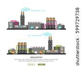 industrial buildings ... | Shutterstock .eps vector #599729738