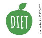 diet label with gradient mesh ... | Shutterstock .eps vector #599734070