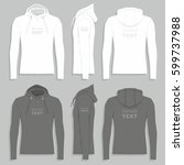 men's hoodie design template | Shutterstock .eps vector #599737988