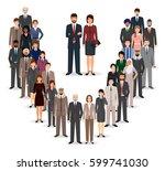 office employee team standing... | Shutterstock .eps vector #599741030