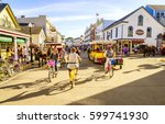 mackinac island  michigan ... | Shutterstock . vector #599741930