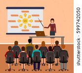 business people seminar. group... | Shutterstock .eps vector #599742050