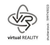 virtual reality logo  | Shutterstock .eps vector #599745023