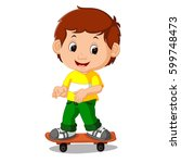 Vector Illustration Of Boy...