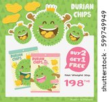 cute durian fruit product  ...   Shutterstock .eps vector #599749949