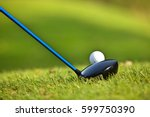 a golf club on a golf course | Shutterstock . vector #599750390
