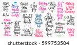 lettering photography overlay... | Shutterstock .eps vector #599753504