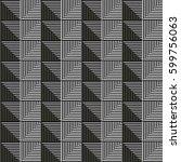 seamless vector abstract... | Shutterstock .eps vector #599756063