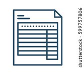 document with table vector icon ...   Shutterstock .eps vector #599757806