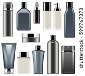 vector cosmetic packaging icons ... | Shutterstock .eps vector #599767373