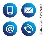 vector icon set  blue spherical ... | Shutterstock .eps vector #599777096