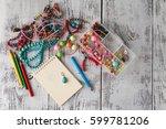 designing concept  handcraft... | Shutterstock . vector #599781206