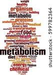 metabolism word cloud concept.... | Shutterstock .eps vector #599782364