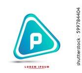 initial letter p. modern... | Shutterstock .eps vector #599784404