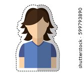 young man avatar character... | Shutterstock .eps vector #599793890