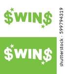 vector win icon | Shutterstock .eps vector #599794319
