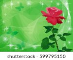 holiday background with flower... | Shutterstock .eps vector #599795150