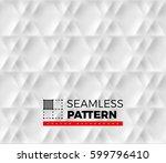 seamless pattern with hexagonal ... | Shutterstock .eps vector #599796410