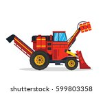 modern agriculture farm vehicle ... | Shutterstock .eps vector #599803358