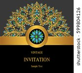 invitation card templates with... | Shutterstock .eps vector #599804126