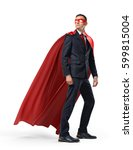 a businessman in a hero red... | Shutterstock . vector #599815004