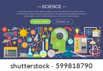 flat design concept of science. ... | Shutterstock .eps vector #599818790