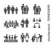 family icon | Shutterstock .eps vector #599820890