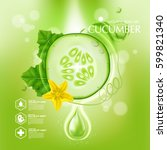 cucumber natural moisture skin... | Shutterstock .eps vector #599821340