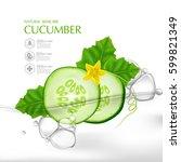 cucumber natural moisture skin...   Shutterstock .eps vector #599821349