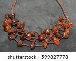 Small photo of Amber. Jewelery from amber. Beads from amber.