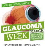 poster for glaucoma week with... | Shutterstock .eps vector #599828744
