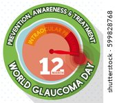flat design for glaucoma day... | Shutterstock .eps vector #599828768