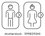 restroom icon isolated | Shutterstock .eps vector #599829344