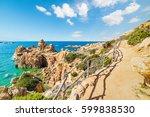 Walk path in Costa Paradiso, Sardinia