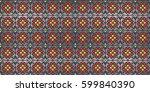 traditional folk art knitted... | Shutterstock .eps vector #599840390