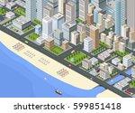 3d illustration isometric large ... | Shutterstock .eps vector #599851418