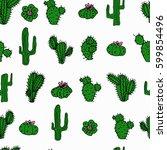 seamless hand drawn vector... | Shutterstock .eps vector #599854496