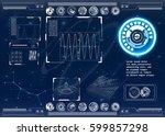 futuristic modern hud  user... | Shutterstock .eps vector #599857298