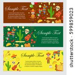 cinco de mayo celebration in... | Shutterstock .eps vector #599859023