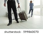 male person going from his wife | Shutterstock . vector #599860070