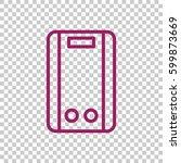 geyser icon flat. | Shutterstock .eps vector #599873669