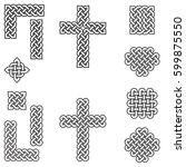 celtic style endless knot... | Shutterstock .eps vector #599875550