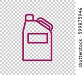 jerrycan icon flat. | Shutterstock .eps vector #599875946