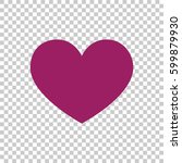 heart icon vector. | Shutterstock .eps vector #599879930