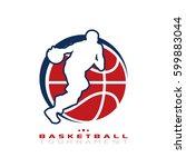 basketball tournament logo.... | Shutterstock .eps vector #599883044