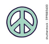 vector peace sign | Shutterstock .eps vector #599885600