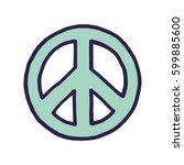 vector peace sign   Shutterstock .eps vector #599885600