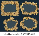 victorian baroque floral... | Shutterstock .eps vector #599886578