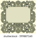victorian baroque floral... | Shutterstock .eps vector #599887160